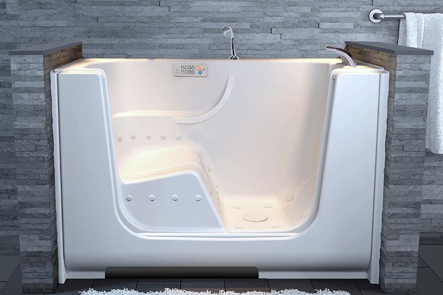 Proprietary Roll Door Technology - Spa Bath